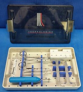 Memometal Technologies Hand Foot Surgery Instrument Set W Case Orthopedic