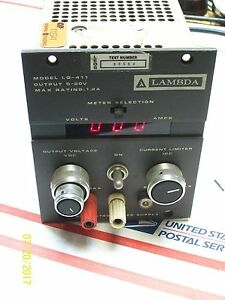 Lambda Regulated Power Supply Lq 411