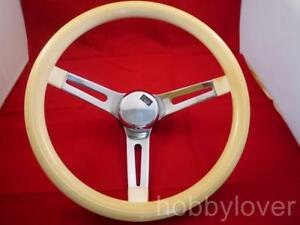 Vintage White Style Hot Rod Classic Look Steering Wheel Vinly Vw Rare A927