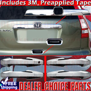 2007 2008 2009 2010 2011 Honda Crv Chrome Door Handle Covers tailgate top lower