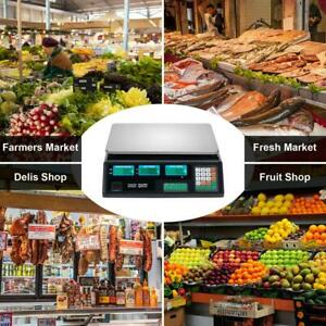 Digital Scale Deli Food Price Computing Retail 88lb Fruit Produce Counting