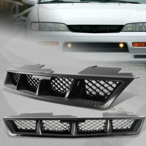 For 1994 1997 Honda Accord Mug Black Abs Plastic Front Hood Bumper Grille Grill