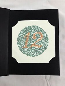 38 Plate Ishihara Test Book Color Blindness Ships From Usa