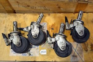 Set Of 4 Colson Scaffolding Casters inv 31523