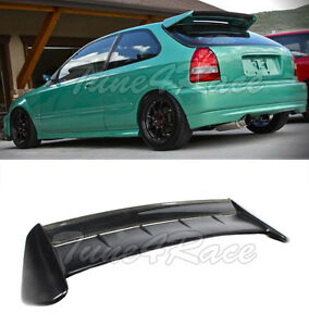 For 96 00 Civic Ek9 Seeker Style Carbon Roof Spoiler Wing Kit 3dr Hatchback