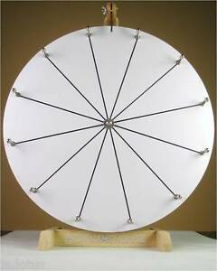 20 Woodwell Tabletop White Dry Erase Fortune Prize Wheel 12slots wood spinning