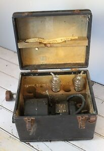 Antique National Lead Company Research Lab Portable Mechanical Vacuum Pump