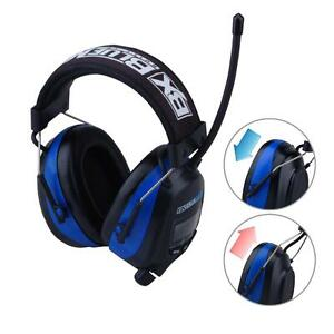 Digital Earmuff Am Fm Stereo Radio Audio Input Passive Safety Hearing Protection