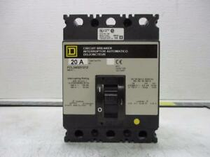Square D Fcl340201212 20 Amp 3 Phase Circuit Breaker