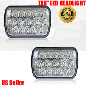 7x6 Led Headlights Hid Cree Light Bulbs Clear Sealed Beam Headlamp Headlight