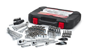 New Mechanics 134 piece Tool Set standard Deep Sockets ratchets And Wrenches