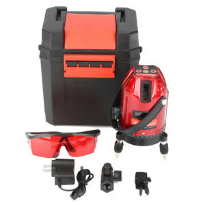 Waterproof 360 Self Leveling Rotary Laser Level Measure Kit 5line 6point 4v 1h