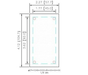 1 8 Din Panel Meter Cover Plate 304 Stainless Steel Gasketed