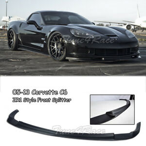For 05 13 Chevrolet Corvette C6 Z06 Zr1 Style Front Lip Kit Splitter Bumper Abs