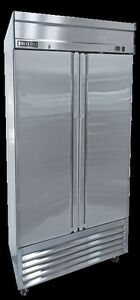 New Maxx Cold Mxsf 49fd Two 2 Door Upright Reach in Freezer Free Shipping