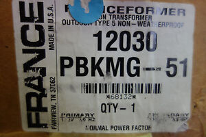 France Electric Sign Part 12030 Pbkmg Outdoor Type 5 Neon Transformer Nib