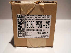 Franceformer 12 000 30 Neon Transformer Nib 2012 Manufacture electric Sign Parts