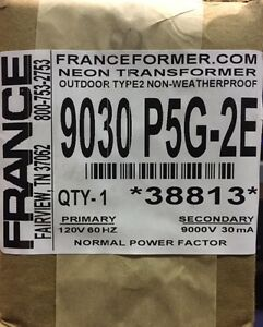 France Electric Sign Repair Part 9030 P5g 2e Outdoor Type2 Neon Transformer Nib