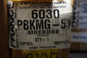 France Electric Sign Repair Parts 6030 Pbkmg 51 Outdoor Type 5 Neon Transformer