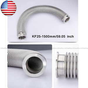 Bellows Hose Metal Kf25 1500mm 59 05 Inch Tubing Iso kf Flange Size Nw 25 Usa