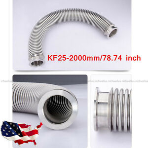 Bellows Hose Metal Kf25 2000mm 78 74 Inch Tubing Iso kf Flange Size Nw 25 Usa