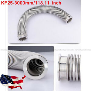 Bellows Hose Metal Kf25 3000mm 118 11 Inch Tubing Iso kf Flange Size Nw 25 Usa