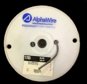 Alpha Wire Multi conductor Cables 100ft Spool Slate 1703 new Free Shipping