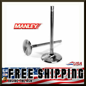 Manley Sbc Chevy 2 125 Stainless Race Flo Intake Valves 5 040 X 3415 11774 8