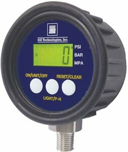 0 To 3000 Psi Digital Pressure Gauge 2 1 2 Dial 1 4 Mnpt Connection Plastic