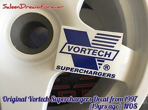 Blue Vortech Supercharger Decal Sticker Ford Saleen S281 S351 Mustang Ford Gt