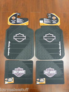 Harley davidson Factory Front And Rear Car Truck Rubber Floor Mats Pink New