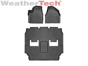 Weathertech Floor Mats Floorliner For Chrysler Pacifica 1st 2nd 3rd Row Black