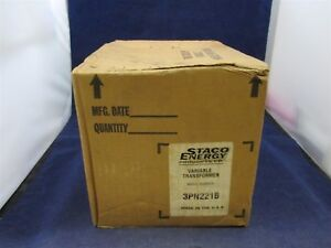 Staco Energy Variable Transformer 3pn221b New In Box
