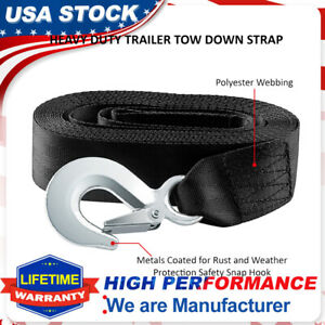 Pal 2 X20 Heavy Duty Winch Strap W Hook For Large Boat Trailer 10000 Lbs Max
