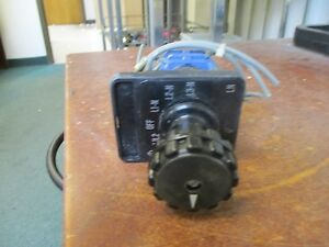 Kraus Naimer A11 Rotary Switch C17241 10a Used