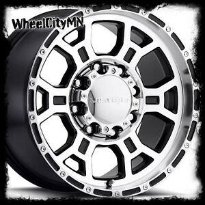 17 Inch Black Vision Raptor 372 Wheels Rims Ford F250 F350 Excursion 8x170 25