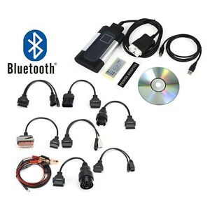 Bluetooth Tcs Cdp Pro Plus For Auto com Obd2 Car Scanner 8pcs Car Cables