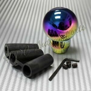 Neo Chrome Aluminum Ball Manual Mt Gear Stick Shifter Shift Knob Universal 3