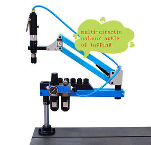 Universal Flexible Arm Pneumatic Air Tapping Machine 360 Angle 1000mm M3 m12 A