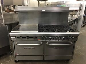 Southbend 4601aa 2gl 60 Range W 6 Burners 24 griddle 2x Convection Ovens
