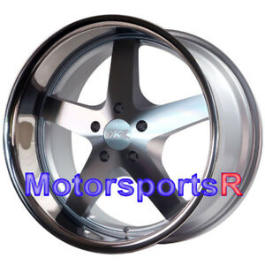Xxr 968 Silver Deep Lip 20 15 Staggered Wheels Rims Fits Infinit G35 Coupe S