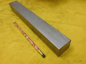 304 Stainless Steel Square Bar Stock Flat Rod 1 1 2 X 1 1 2 X 12 Oal