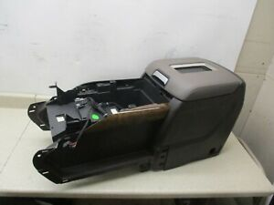 New 15 To 19 Suburban Tahoe Yukon Center Console Storage Compartment Brown gray