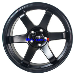 Mst Mt01 18 X9 5 22 Flat Black Rims Wheels 5x114 3 Mitsubishi Evolution X Mr Fe