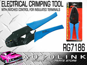 Heavy Duty Ratchet Controlled Electrical Crimper Pliers For Insulated Terminals