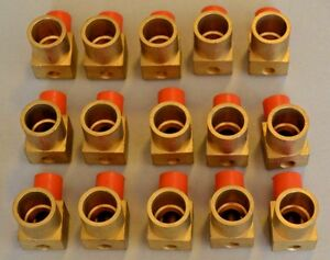 Lot Of 15 Brass Pex Elbows 1 Female Sweat X 5 8 Pex Insert With Drain Hole