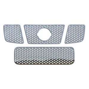 Grille Insert Guard Circle Punch Polished Stainless Fits 04 07 Nissan Titan