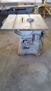 Oliver Heavy Duty 14 Table Saw Vintage Good Condition Wood Working