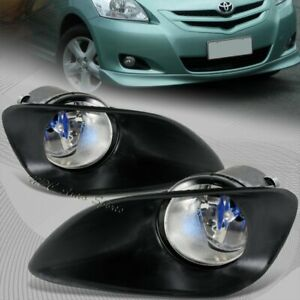 For 2007 2011 Toyota Yaris 4dr Sedan Clear Lens Bumper Fog Driving Lights Lamp