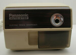 Vintage Panasonic Kp 110 Electric Pencil Sharpener Auto Stop Retro Office Art